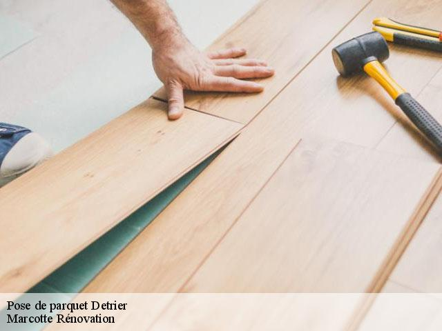 Pose de parquet  detrier-73110 Marcotte Rénovation