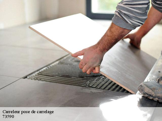 Pose de carrelage  73590